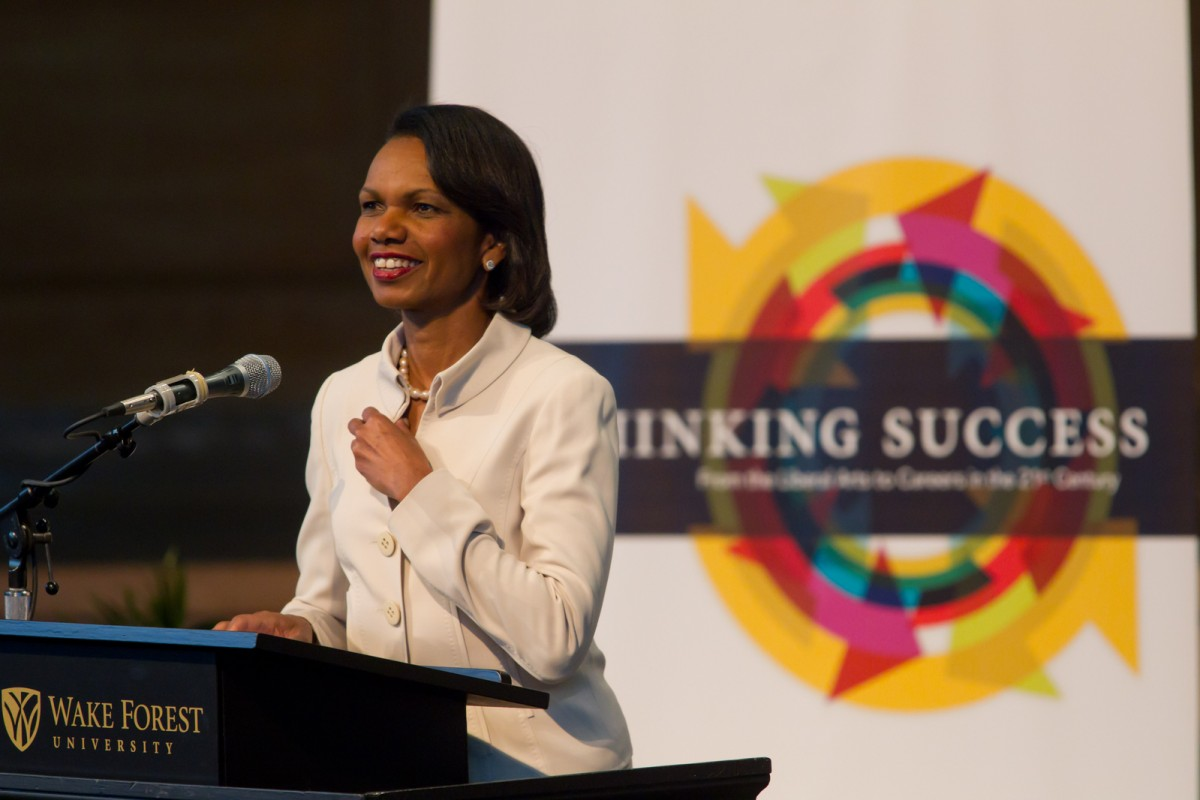 Condoleezza Rice At Wake Forest University