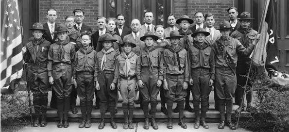 Historical Boy Scouts Photo