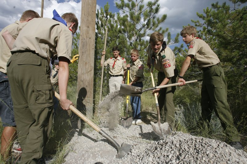 Boy Scouts At Work